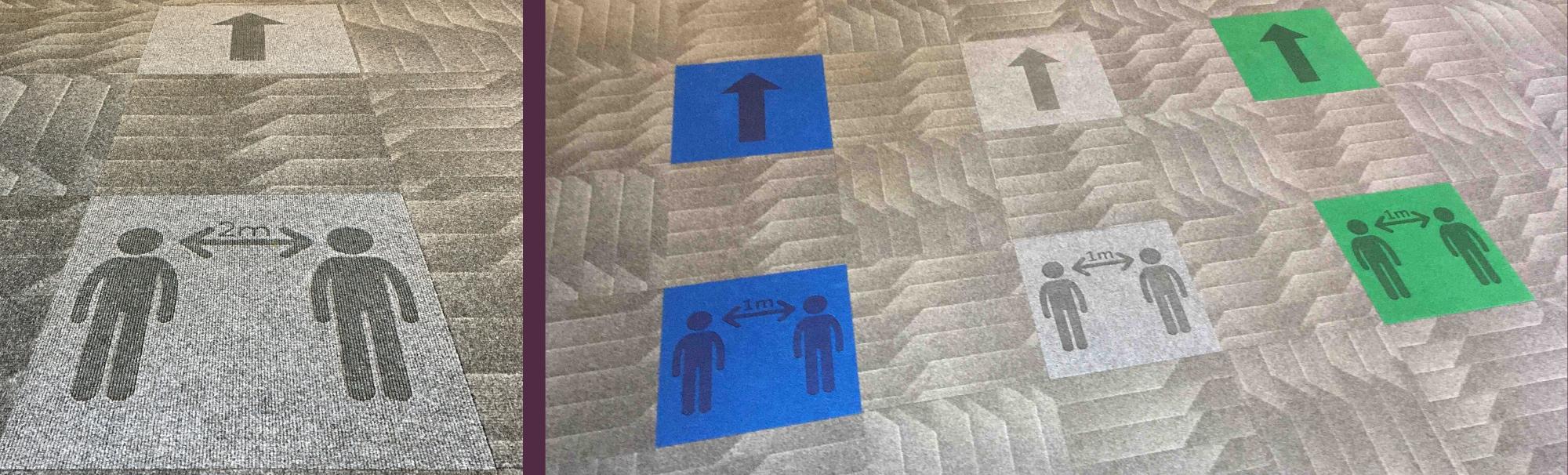 Heckmondwike   Commercial Carpet and Carpet Tiles   Social Distancing Tiles